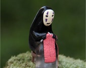 Spirited Away No face knitting Studio Ghibli Miniature terrarium Figurine, resin pendant, phone charm, Fairy Garden DIY craft supply