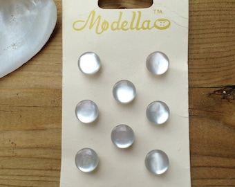 Vintage Button card with 8 Pearl look buttons