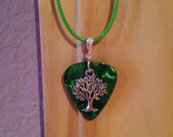 Tree Guitar Pick Necklace