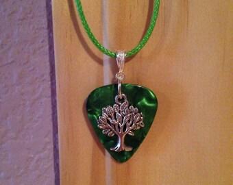 Tree Guitar Pick Necklace *sale*