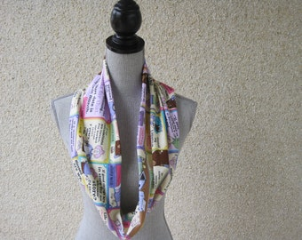 Fabric scarf, Infinity scarf, Aunty Acid, Pink Scarf, Cotton Scarf, Sarcasm Scarf, Tube Scarf, Fashion Scarf, Fashion Accessory