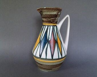 Fohr Keramik  404 - 25 vintage handled Vase .  Designer : Walther Grau. 1950s / 1960s  West Germany. WGP