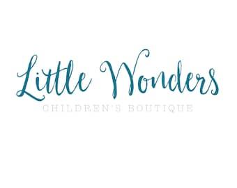 Premade Personalized Arrow Logo // Little Wonders // Children's Boutique Logo
