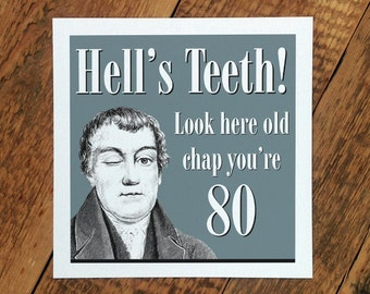 80th Birthday Card For Men; 80th Age Card For Men; You're 80; GC095