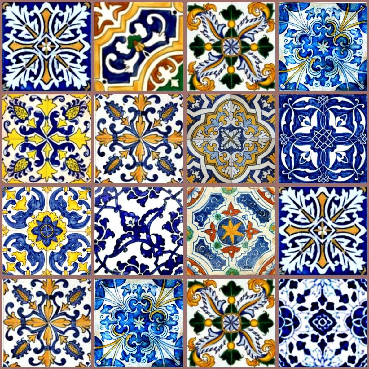 Miniature Dollhouse Tile Flooring: Dollhouse Miniature Ceramic Tile Spanish Talavera