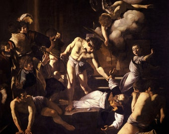 Caravaggio The Martyrdom of Saint Matthew. Fine Art Print/Poster.