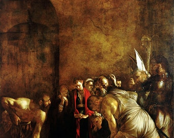 Caravaggio: The Burial of Saint Lucy. Fine Art Print/Poster.
