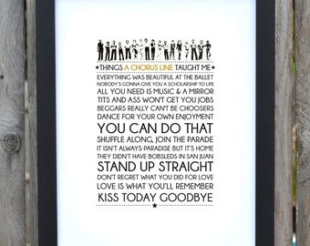 Broadway Musical typography print - A Chorus Line