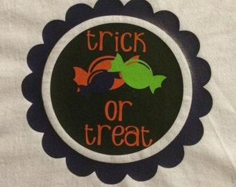 Halloween T-Shirt, Girl's Shirt, Graphic Tee, Halloween, Trick or Treat