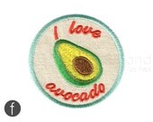 I love avocado Iron On Patch
