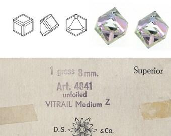 Swarovski vintage 4841 8mm cube vitreal medium stones.  Price is for 1 stone