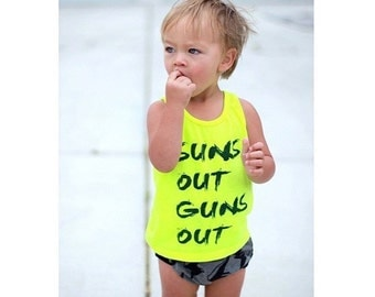 "New ""Suns Out Guns Out"" Tank Baby/Toddler/Child/Adult"