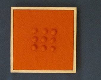 "Wool Felted Sculptural Wall Art, Framed, 13"" x 13"" Overall Size (SC15)"