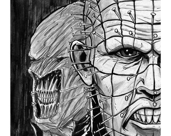 Pin Head and Chatterer Hellraiser Print