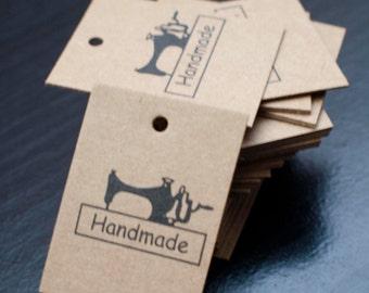 Price tags - brown kraft paper- 3cm x 4xm - sewing machine