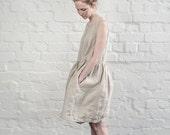 Linen dress. Natural linen summer dress