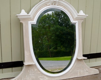 An Antique French Vanity Table Mirror - Shabby Chic