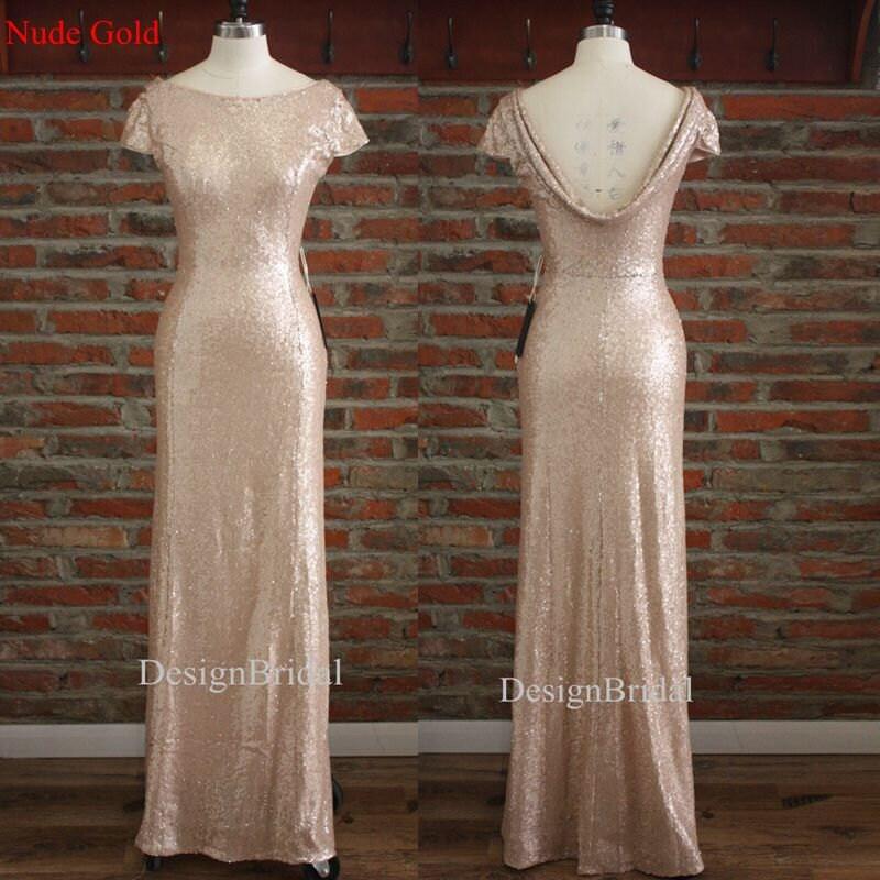Cowl back bridesmaids dressescheap bridesmaid dress longgold for Cowl neck wedding dress pattern
