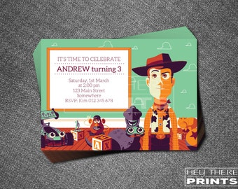 Toy Story Woody Invitations - Cowboy - Buzz Lightyear