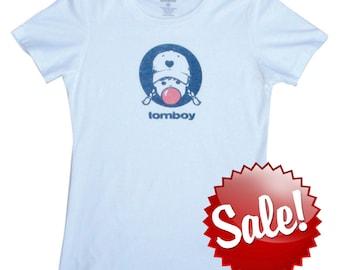 Vintage T Shirt Bubblegum Tomboy Shirt Vintage Baseball Tee Softball Tee Girls Sports Cute T Shirt
