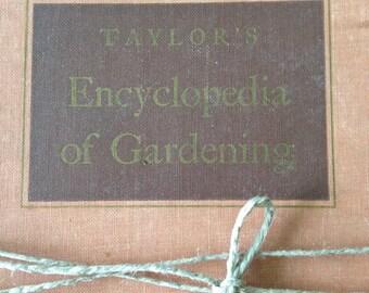Vintage Taylor's Encyclopedia of Gardening Book, Vintage Gardening Information Book