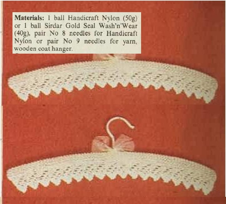 Knitting Coat Hanger Cover Patterns : Knitting hanger cover pattern baby by