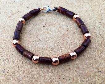 Copper bead bracelet,copper bracelet,women's bracelet, boho bracelet, copper jewelry, cute bracelet