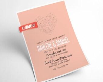 Sweetheart Wedding Invitation / DIY Printable Invitation