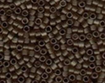 MIYUKI #11 Delica 384 - Matte Transparent Smoky Quartz Luster - 5 grams