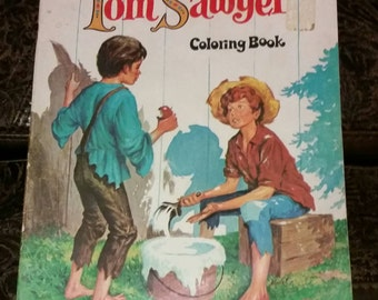 1978 The Adventures of Tom Sawyer Coloring Book