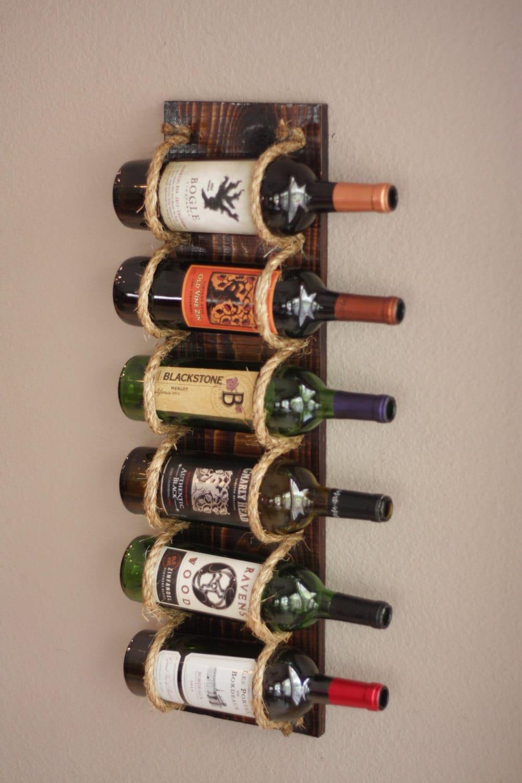 Wine rack wall wood by