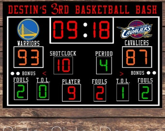 Printable Basketball Scoreboard