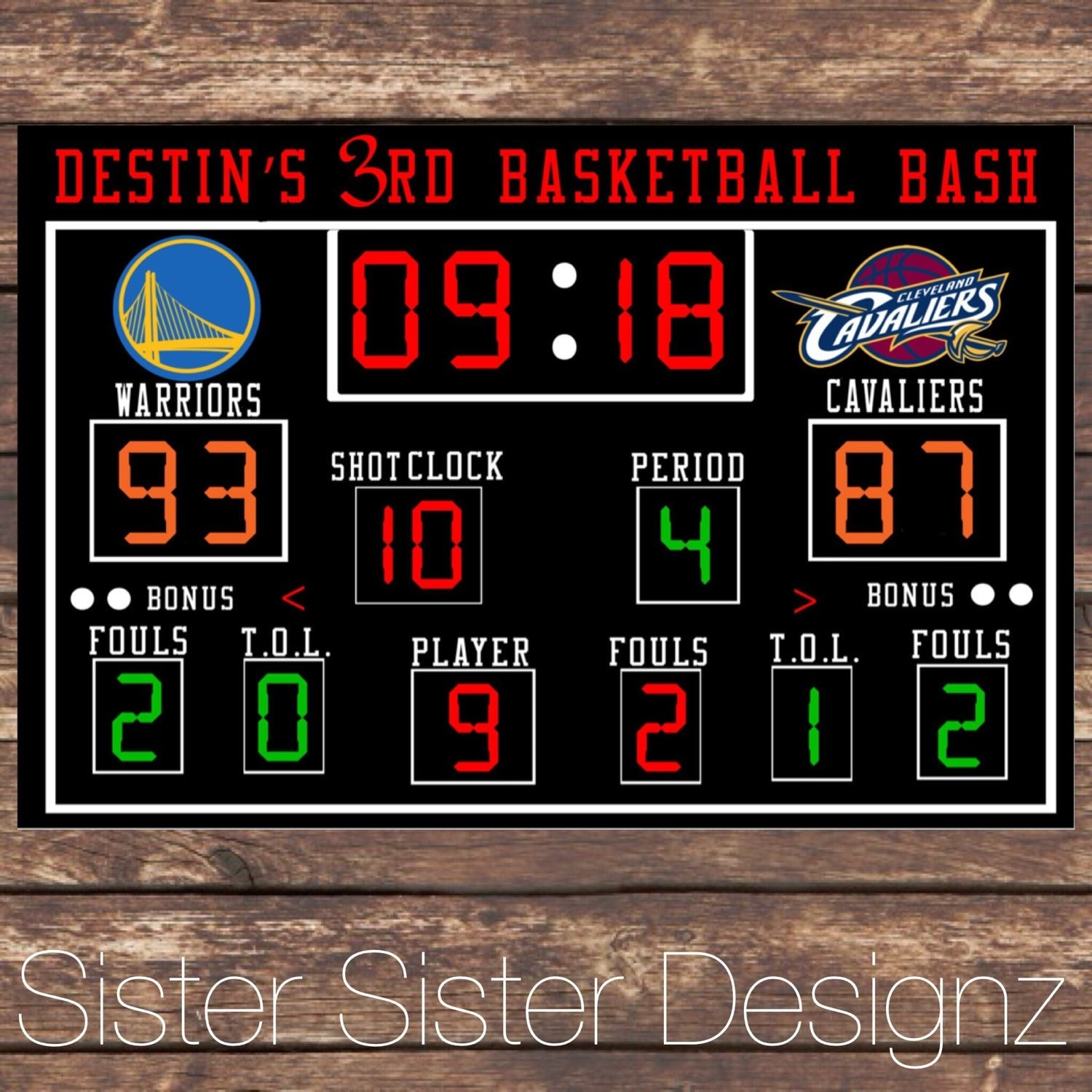 basketball scoreboard printable description
