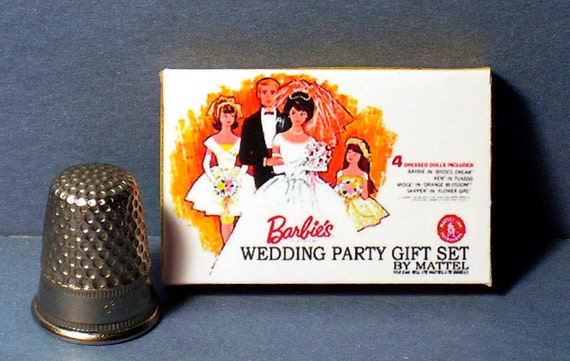 Wedding Gift Set Barbie : Barbie Wedding Party Gift Set BoxDollhouse Miniature1:12 scale ...