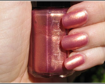 Anything For The Crown - Labracadabra Pink & Gold Shimmer Nail Polish