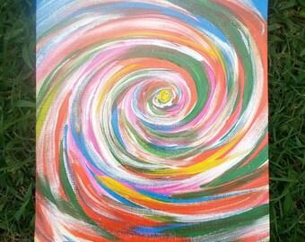 Rainbow swirls of infinity