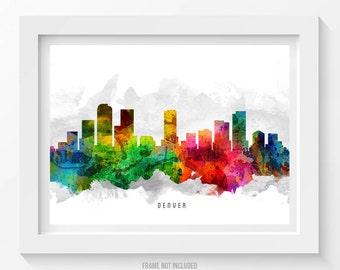 Denver Colorado Skyline Poster, Denver Cityscape, Denver Print, Denver Art, Denver Decor, Home Decor, Gift Idea 12