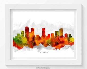 Denver Colorado Skyline Poster, Denver Cityscape, Denver Print, Denver Art, Denver Decor, Home Decor, Gift Idea 15