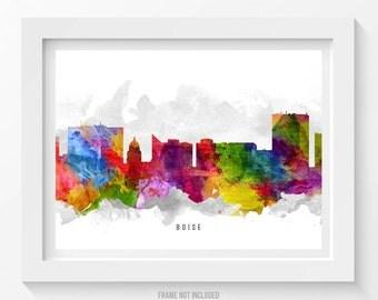 Boise Idaho Skyline Poster, Boise Cityscape, Boise Print, Boise Wall Art, Boise Decor, Home Decor, Gift Idea 13