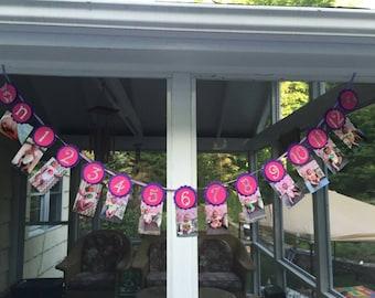 First birthday banner, first year photo banner, monthly photo banner, baby's first year,first birthday, monthly picture banner- 1st birthday
