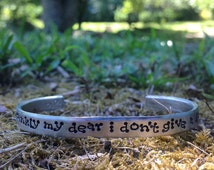 frankly my dear i dont give a damn - Gone with the wind inspired bracelet