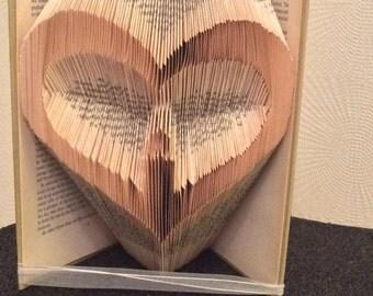 PATTERN #127 flame in my heart  book folding pattern. 259 folds