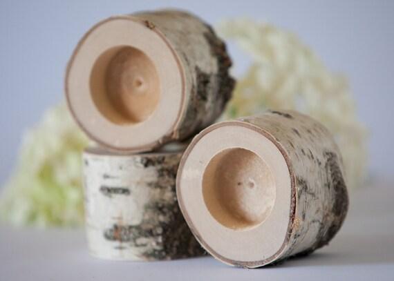 3 bougeoirs bouleau ouvrez une session support de feu de thé # Bois De Bouleau Utilisation