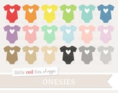 Heart Onesie Clipart, Baby Shower Clip Art New Baby Clothes Clothing Invitation Card Pastel Cute Digital Graphic Design Small Commercial Use