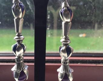 Gemstone Purple and Blue earrings