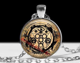 Goetic circle of black evocations, Eliphas Levi amulet, occult pendant, ritual necklace, magic talisman, esoteric jewelry, lamen #146