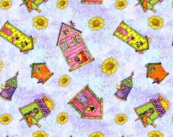 SPX Fabrics Birdhouse Garden Fabric 622