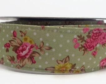 Vintage print ribbon, Wired floral ribbon, crafting ribbon, 25mm ribbon, floral print ribbon, craft supplies, sewing supplies, uk ribbon