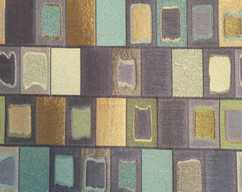 Modern Contemporary Blocks Of Shimmery Colors Upholstery Fabric