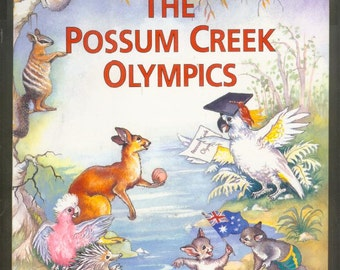 The POSSUM CREEK OLYMPICS Large Children's Illustrated Poetry Book 1995 Dan Vallely Yvonne Perrin
